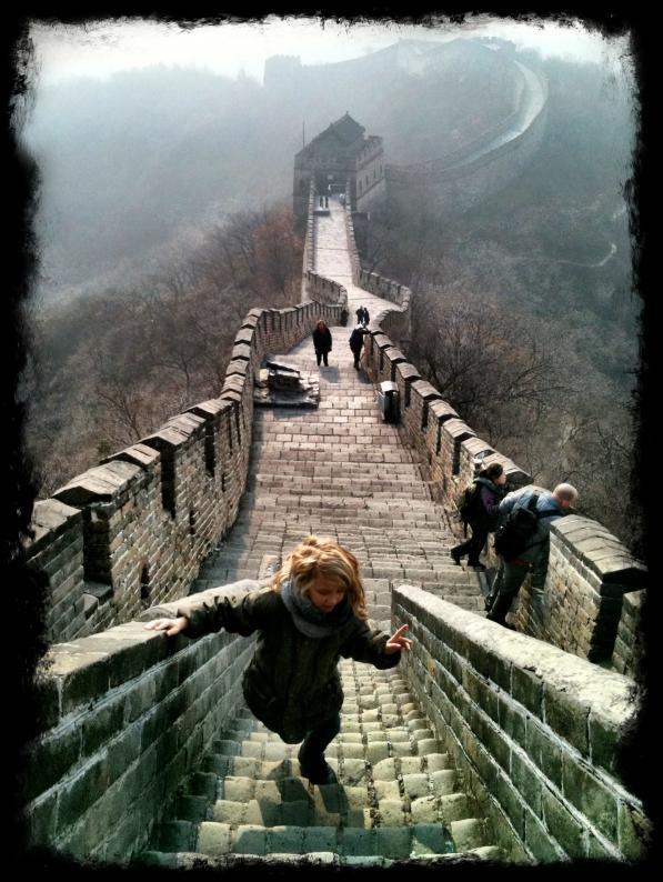 Här är jag på Kinesiska muren