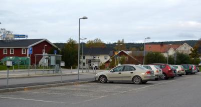 Parkeringen en Tisdagmorgon