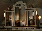Lillhärads kyrkas orgels fasad: Fasaden härör från 1876 års E A Setterqvist orgel.