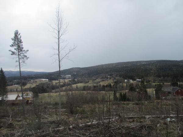 Utsikten mot Kallsta, mot Öd och Kålsta längre bort