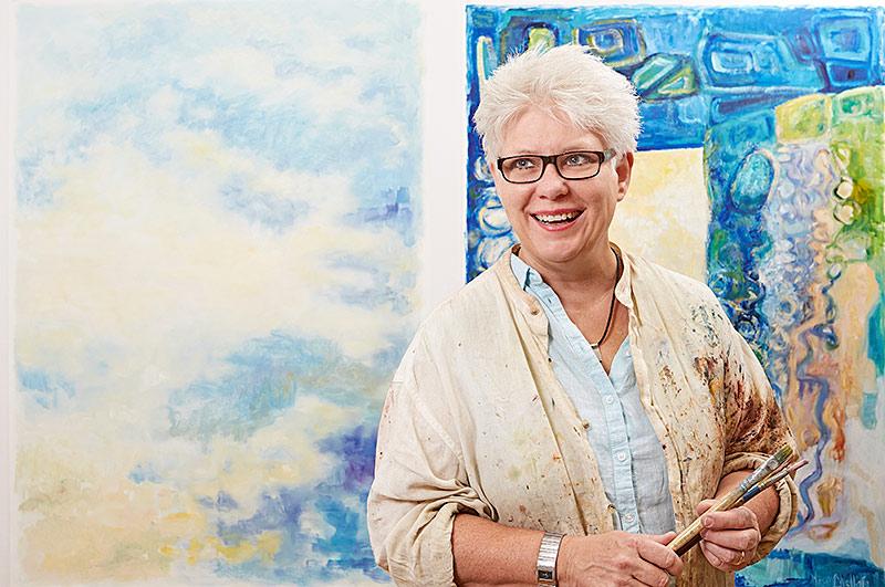 Lever för konsten. Marie Chellén är konstnär och redaktör för Föreningen Konstliv i Sjuhärads tidning inför Konstrundan 2017.