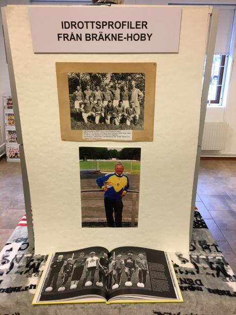 En monter med Hobys egna idrottsprofiler som bland annat Kenneth Svensson som satt som ordförande under femton år i Blekinge Fotbollsklubb, finns med på Blekinge Idrottsmuseum.