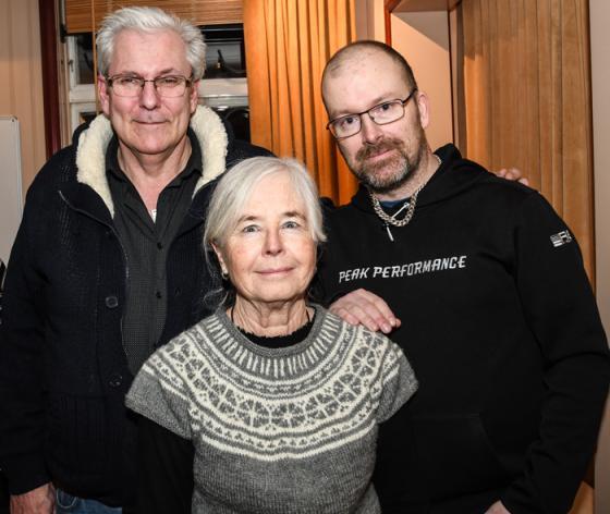 Rune Kennborn, Eivor Carlsson och Patrik Carlsson som finns på platserna 3, 2 och 1 på KD:s lista på kandidater till Bollebygds fullmäktigeförsamling inför valet i höst.
