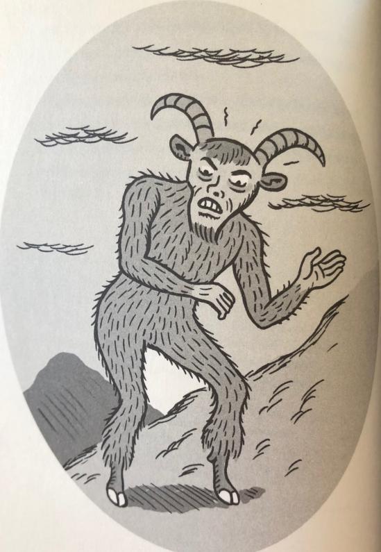 Jack Werners illustration av getmannen ur boken Creepypasta - Spökhistorier på internet.
