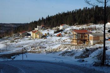 Inya villaområdet Skräddargårdshöjd har några av de nyinflyttade Bollebygdsborna valt att bostätta sig - och fler blir det.