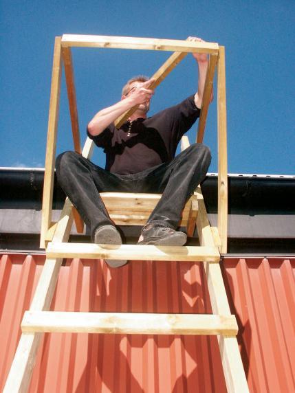 7. Tänk på att mäta hur stor omkrets du behöver på räcket för att tornet ska bli bra.