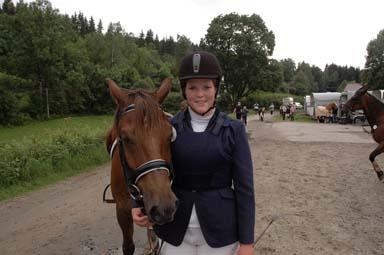Charlotte Johansson tävlade också för Bollebygds Ridklubb
