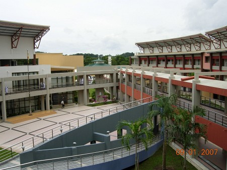 Looking outfrom the science lab