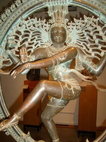 """The Dancing Shiva"". Bronze sculpture. Southern India, ca 1400."