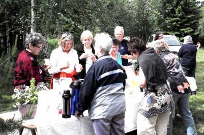 Jobbigaste biten kom efter Almsjönäs så det var en efterlängtad matkontroll när vi kom till Kallstaboern...där alla...