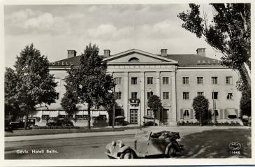 Gamla Baltic hotell där Thoren hyr ett antal rum