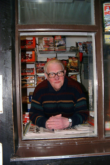 Rune Carlsson drev sin kiosk i mer än 50 år