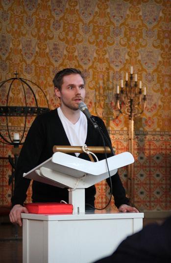 Jörgen Lindström presenterar sitt program i Sundbybergs kyrka