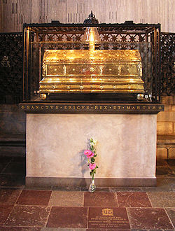 Erik del heliges relikskrin i Uppsala domkyrka