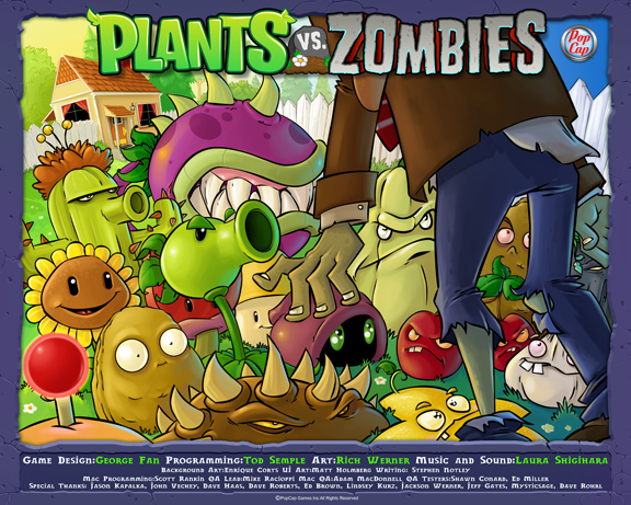 plants vs zombies spel