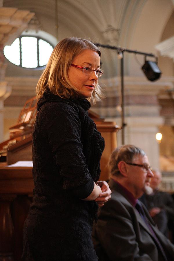 <span>Maria Fredén som spelade Otto Olssons Orgelsonat i E-dur i söndagens konsert.</span>