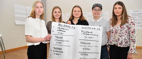 Ungdomsrådet: Elsa Lange, Ida Tryggvadóttir, Elin Jönsson, Nicolas Bredell och Emma Sjödin Strömberg.