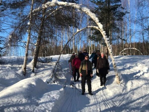 Naturen och snön hade bildat en sorts portal