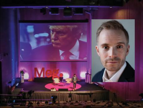 Stora bilden: Joe Posner, videochef på Vox, medverkar vid Meg 2017Lilla bilden: Alfred Ruth (Foto: Sofia Runarsdotter)