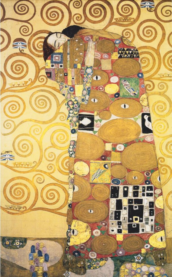 Gärna en kram men inte i Coronatider. Gustaf Klimt