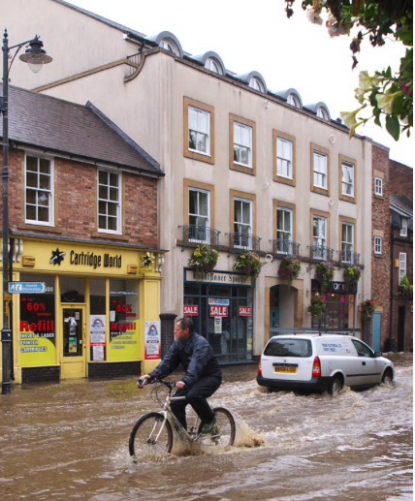 Översvämning. Bilden är inte från Gävle