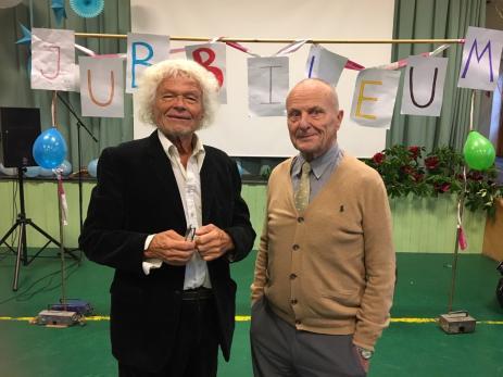 Svante Sundvik och Klas Wennerberg har under många år varit lärare på Blekinge Folkhögskola. Under jubileumsdagen höll Klas ett fint tal.