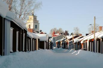 Oh yes, the winter in Luleå is really beautiful! Here you can see the old Church Village, part of the UNESCO World Heritage