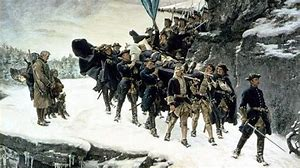 En välkänd men mycket ohistorisk bild av hur Karl XII transporterades till Stockholm efter sin död