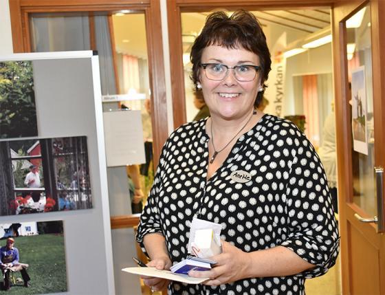 Trygghetsvärden Anette Eriksson var mer än nöjd <br />med äldredagen på Bollegården.