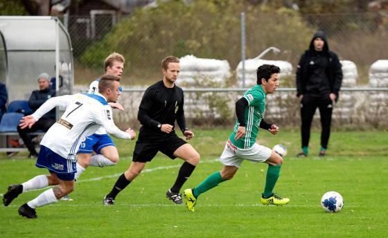 På väg mot målet...<br />Bilder från Ystad: Patrik Falk