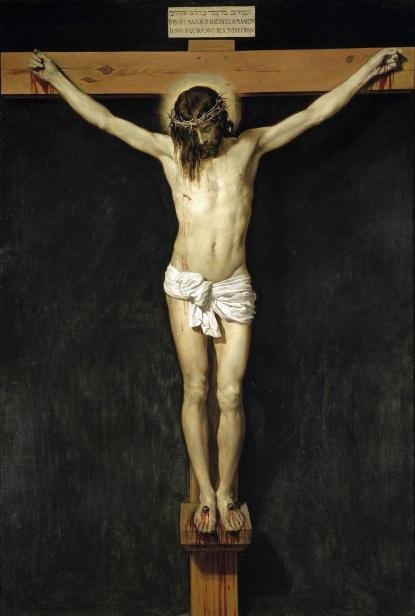 I stort sett i alla kyrkor i Sverige finns ett krucifix som visar korsfästelsen. Bilden Velázquez från 1632.