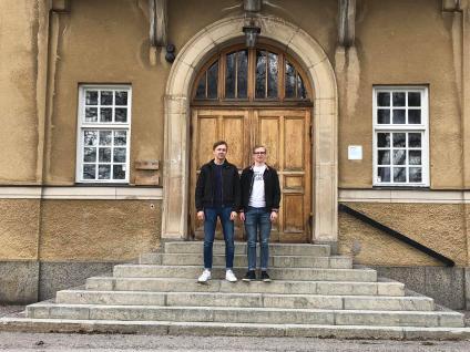 Filip Nilsen och Paul Sandström ser fram emot studentveckan.