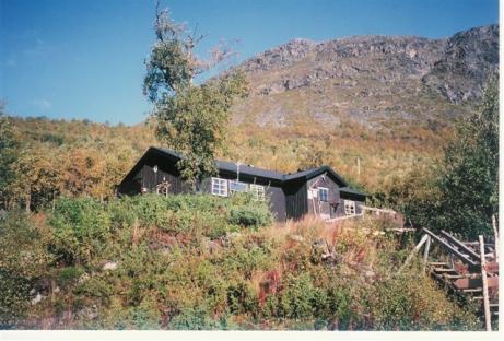 Stugan vid Vakkotavare där vandringen började. Dag ett, Vakotavare till Teusajaure.