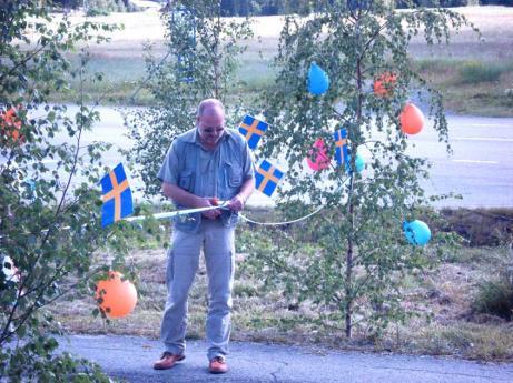 Lars T Johansson i rollen som klippare