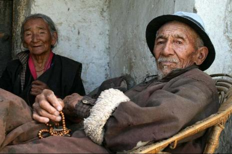 An old couple - picture taken in Leh w Ladhak, north India