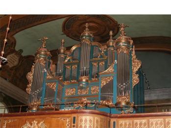 Jacobs kyrka i Hudiksvall får första pris för årsmötesdagarnas mest anslående orgelfasad.