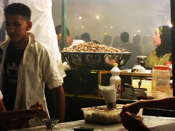 Marrakech - open-air restaurant