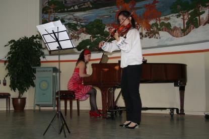 Wang Qianling och Svetlana Driagina