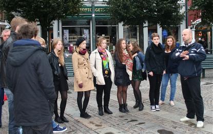 Spetselever på det medeltida torget i Lund