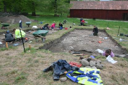 Från utgrävningarna i Gamla Uppsala