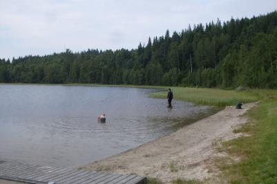Bilden är från 2011 års mete vid Sör-Almsjön