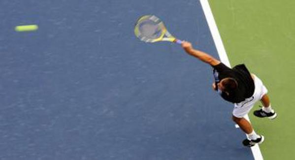 <span>Youzhny Serve. 2009 US tennis open championship.</span>
