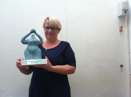 Gunilla Ekelund med 2013 års Open Minds