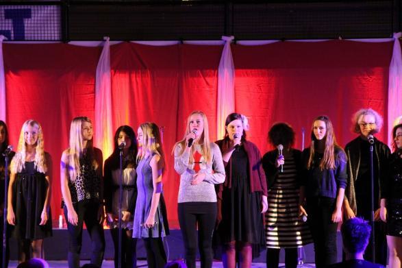 Dramagruppen gav ett smakprov från vårens kommande föreställning.