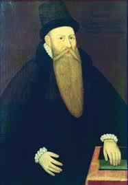 Olof Stefansson Bellius. Rektor 1567-1571. Det äldsta kända porträttet av någon anställd på Vasa.