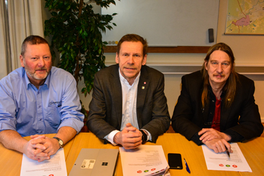 Tomas Ridell (V), Peter Rosholm (S), Sassi Wemmer (MP)