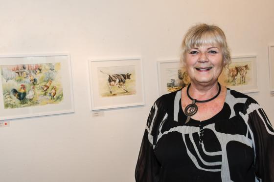 Konstnären själv, Karin Utterberg Areqvist. Mer om henne kan du läsa i nästa nummer av AnnonsMarknan.