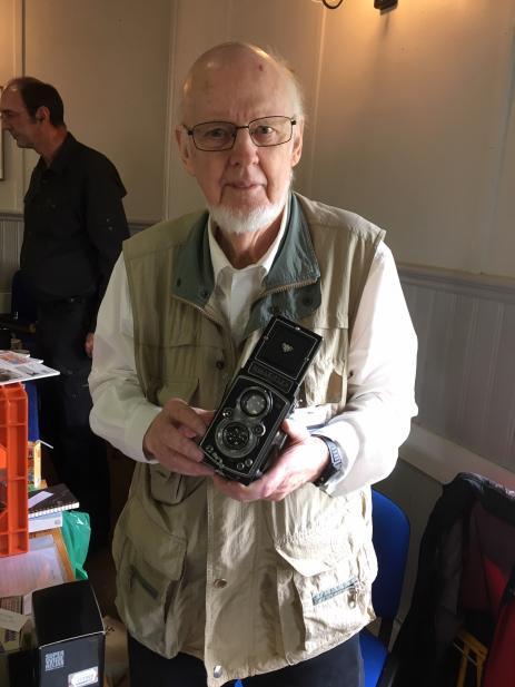 Nils-Harald Ottosson har drivit fotobutik i Olofström under många år och har också startat kameramuseet som ligger i Holje Park.