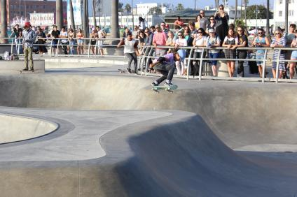 Skatepark på Venice Beach