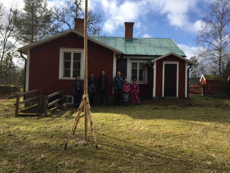 En del av inredningen finns kvar i den gamla småskolan, något som passar bra till scouternas verksamhet.